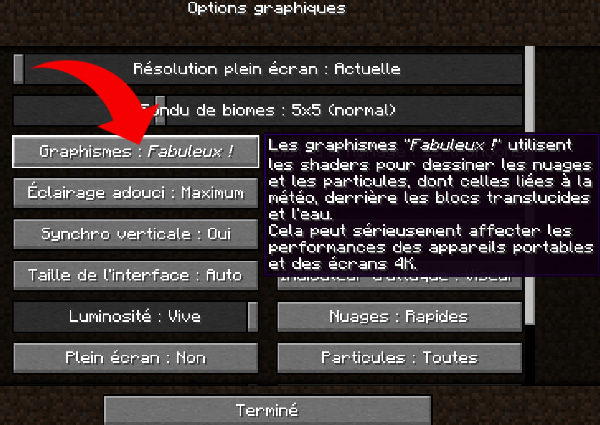 Installer shader minecraft sans optifine fabuleux
