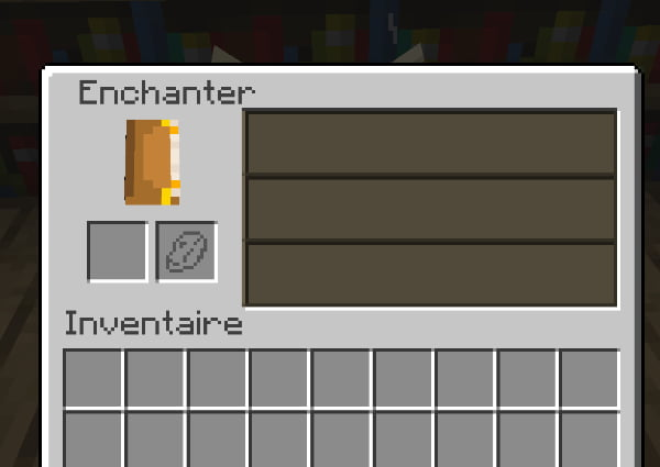 interface table d'enchantement minecraft