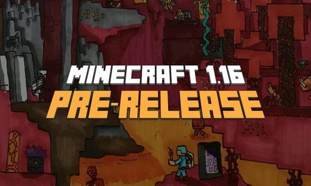 Minecraft 1.16 : Pre-release 1, 2, 3, 4, 5, 6, 7 et 8