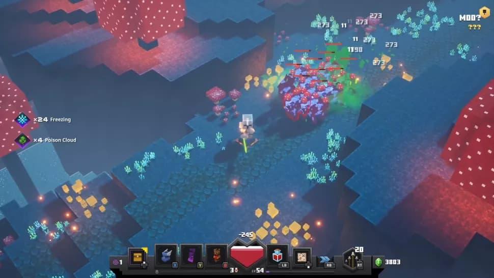 minecraft dungeons niveau secret vache champimeuh