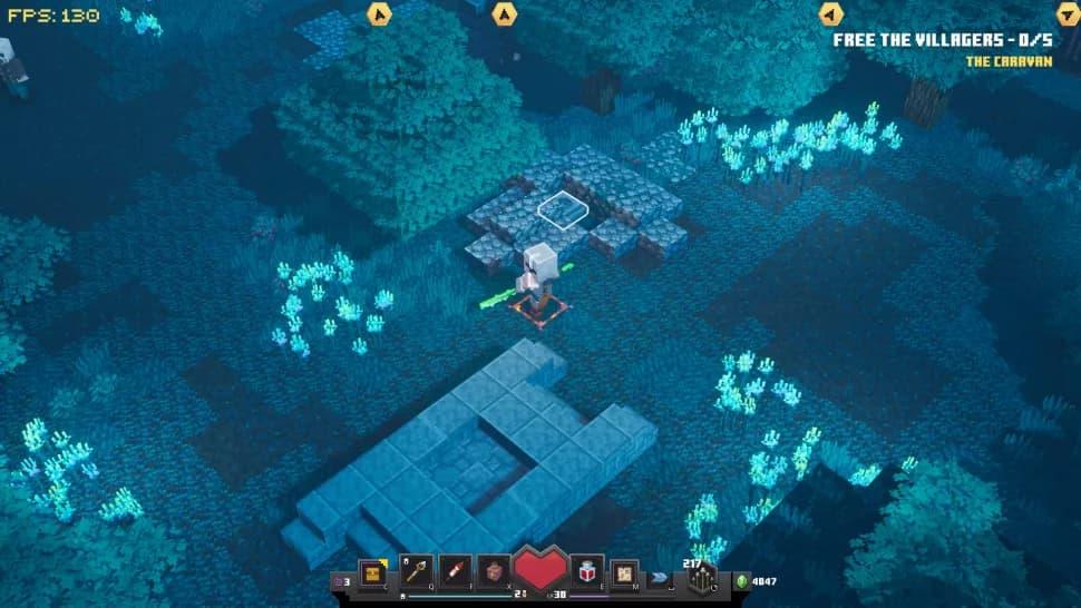 Rune cachée minecraft dungeons bois creeper