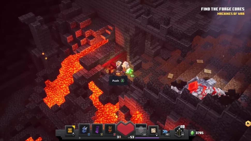 Rune cachée minecraft dungeons forge ardente