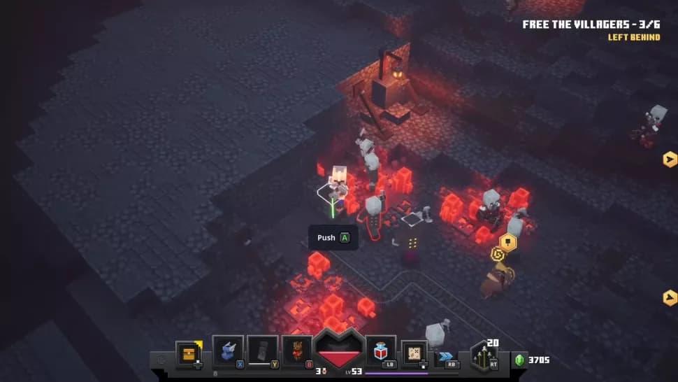 Rune cachée minecraft dungeons mines de redstone