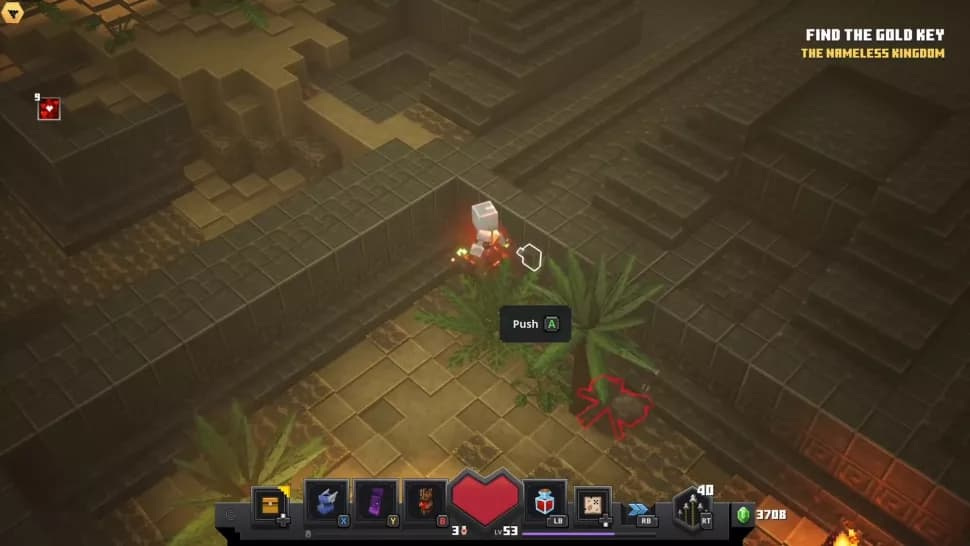 Rune cachée minecraft dungeons temple du desert