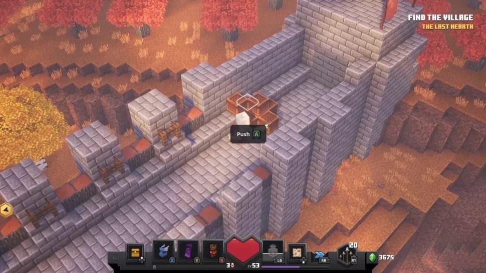 Rune cachée minecraft dungeons champs de citrouilles