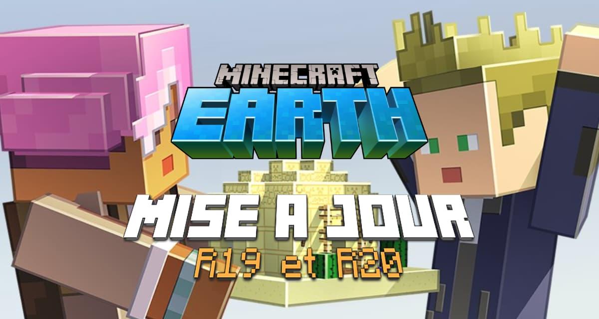 Minecraft Earth : Mise à jour R19 & R20