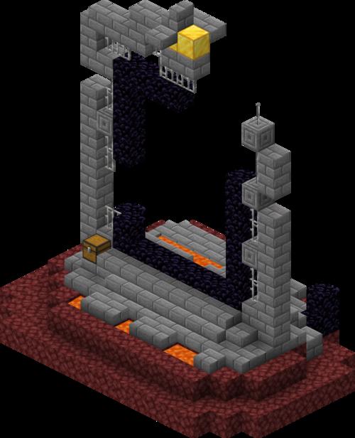 portail en ruine géant