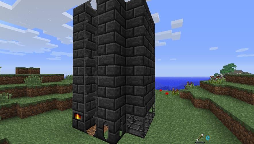 tinkers construct construction fonderie : aller en hauteur