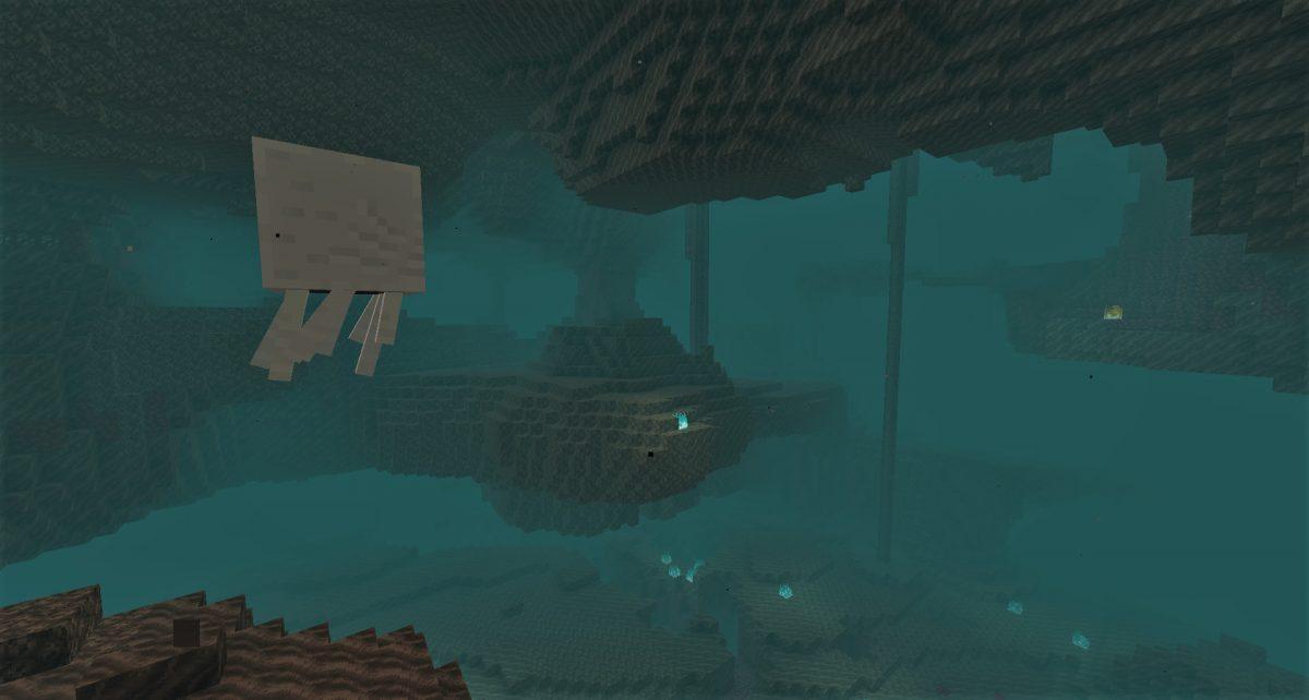Biome de vallée des âmes dans Minecraft 1.16 avec un ghast