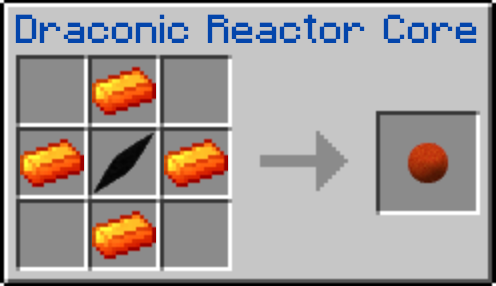 Le craft du Draconic Reactor Core