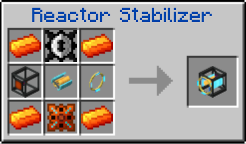 Le craft du Reactor Stabilizer