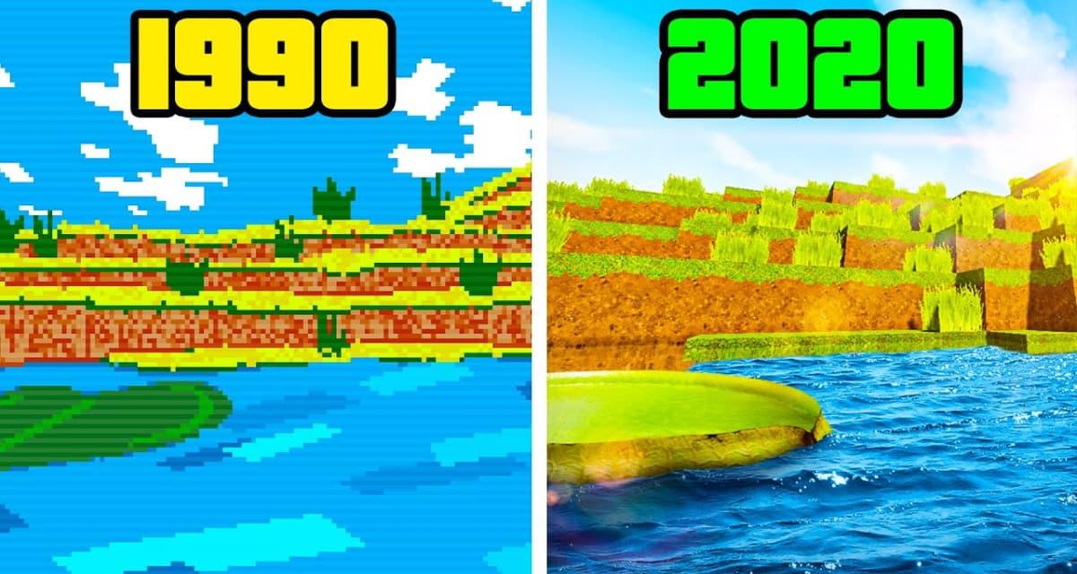 L'évolution de Minecraft de 1990 à 2020