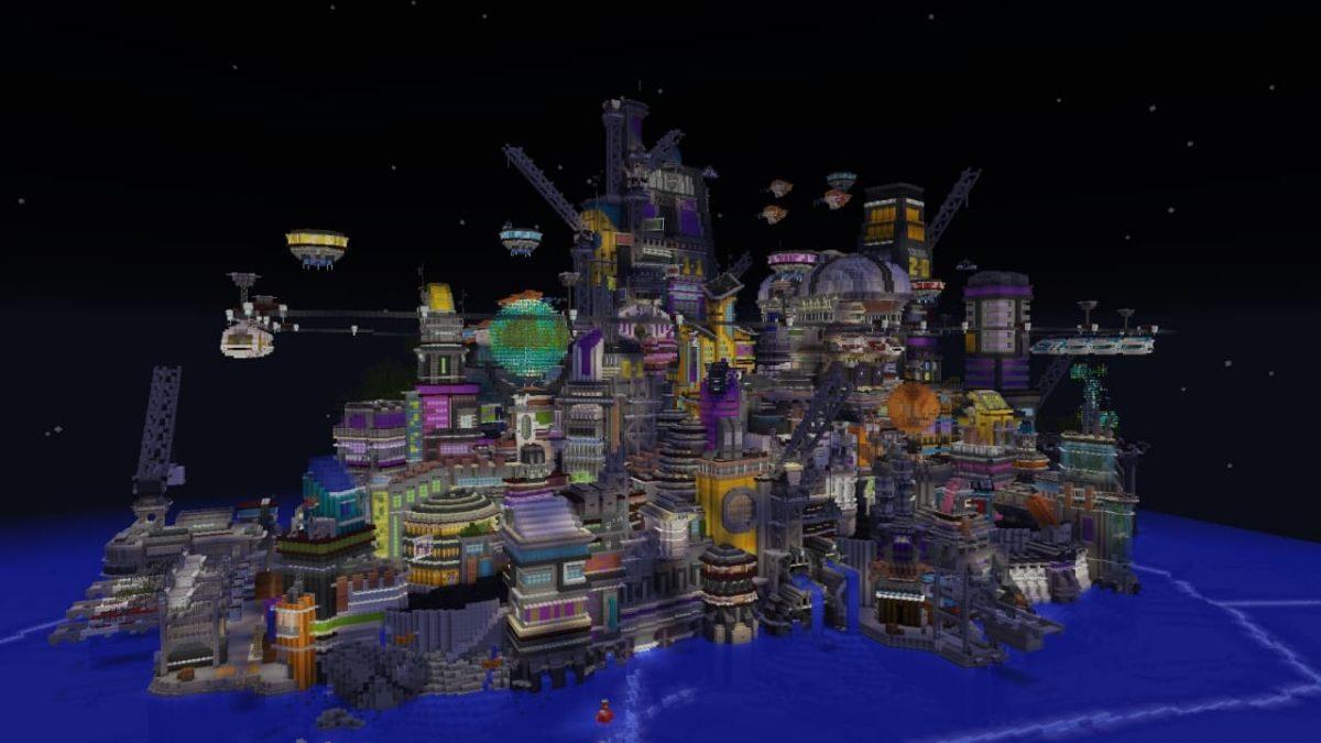 Une vue sans shaders de la map