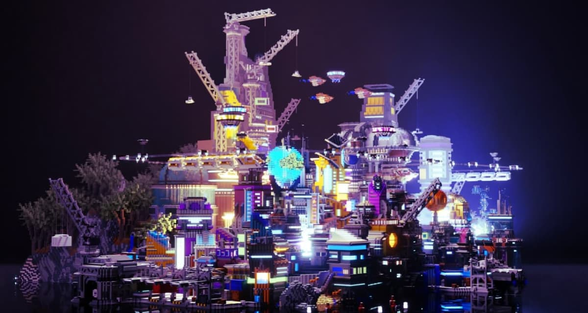 Hive City : Un sanctuaire alien futuriste – Map Minecraft
