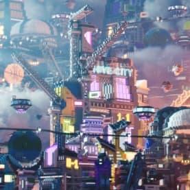 vue petite de la map hive city
