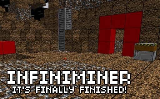 Image de l'annonce de la sortie du jeu Infiniminer