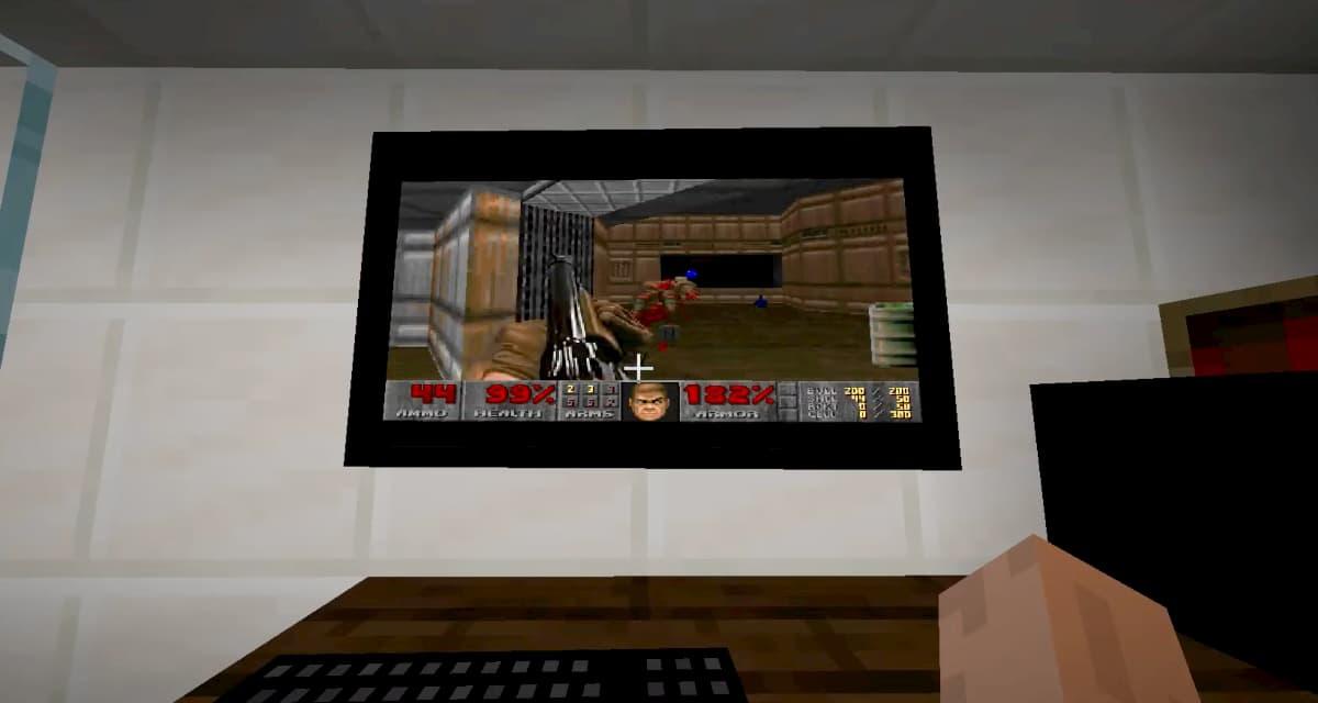 Il est possible de jouer à DOOM sous Windows 95 dans Minecraft