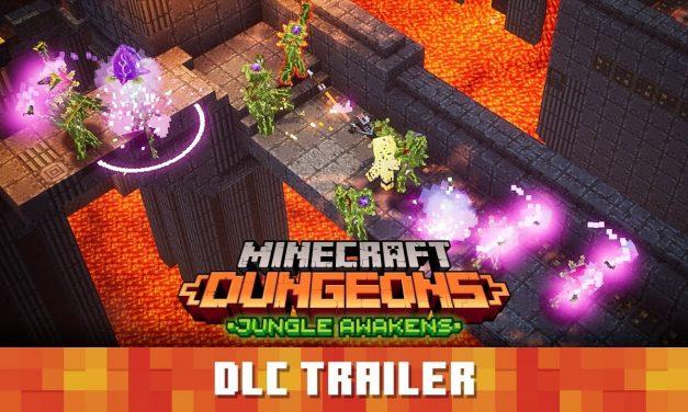 Minecraft Dungeons : «L'éveil de la jungle» trailer de lancement