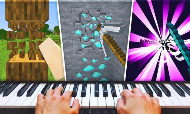 Ce joueur a terminé Minecraft en jouant avec un piano