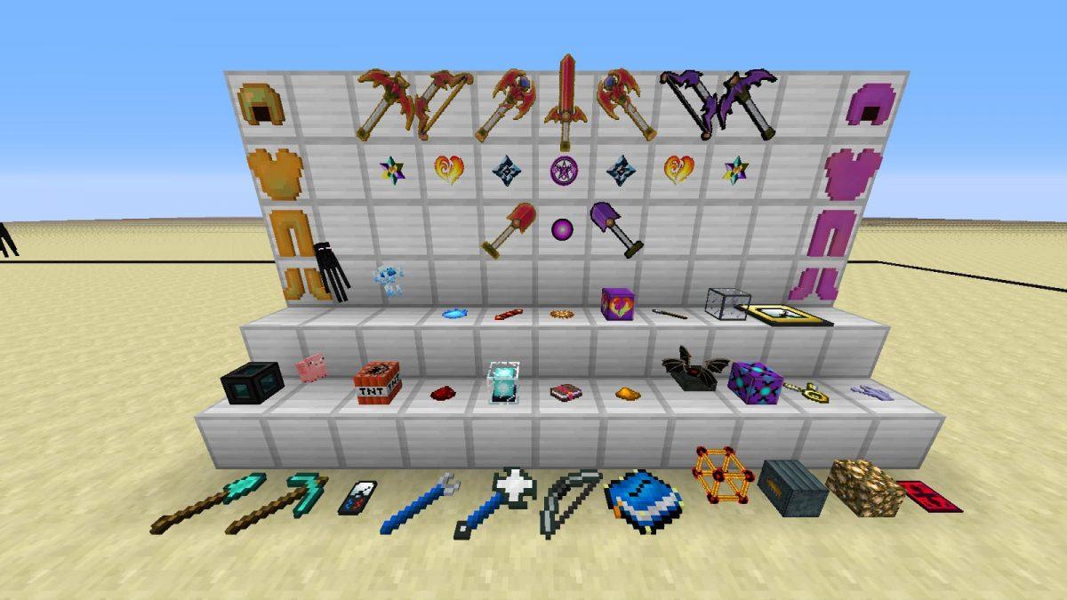 Les objets ajoutés par le mod Dragonic Evolution.