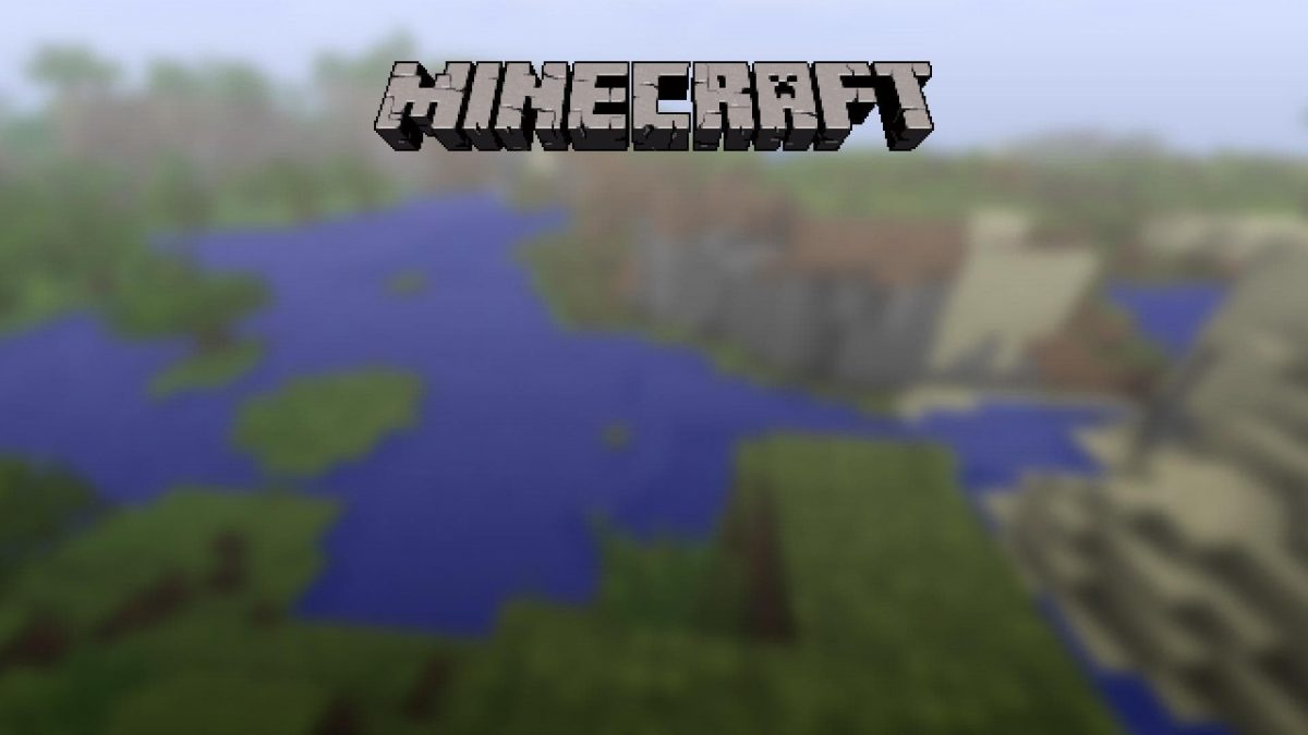 La map de l'écran d'accueil de Minecraft