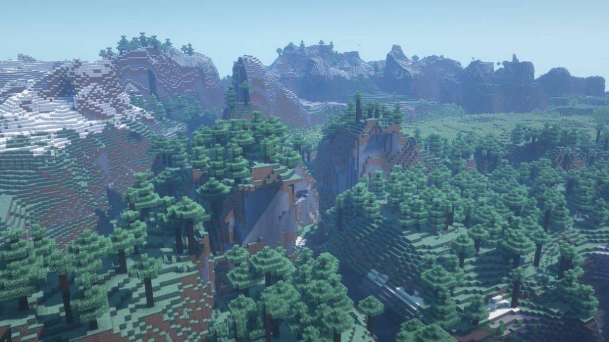 seed minecraft 1.16 belle colline forêt