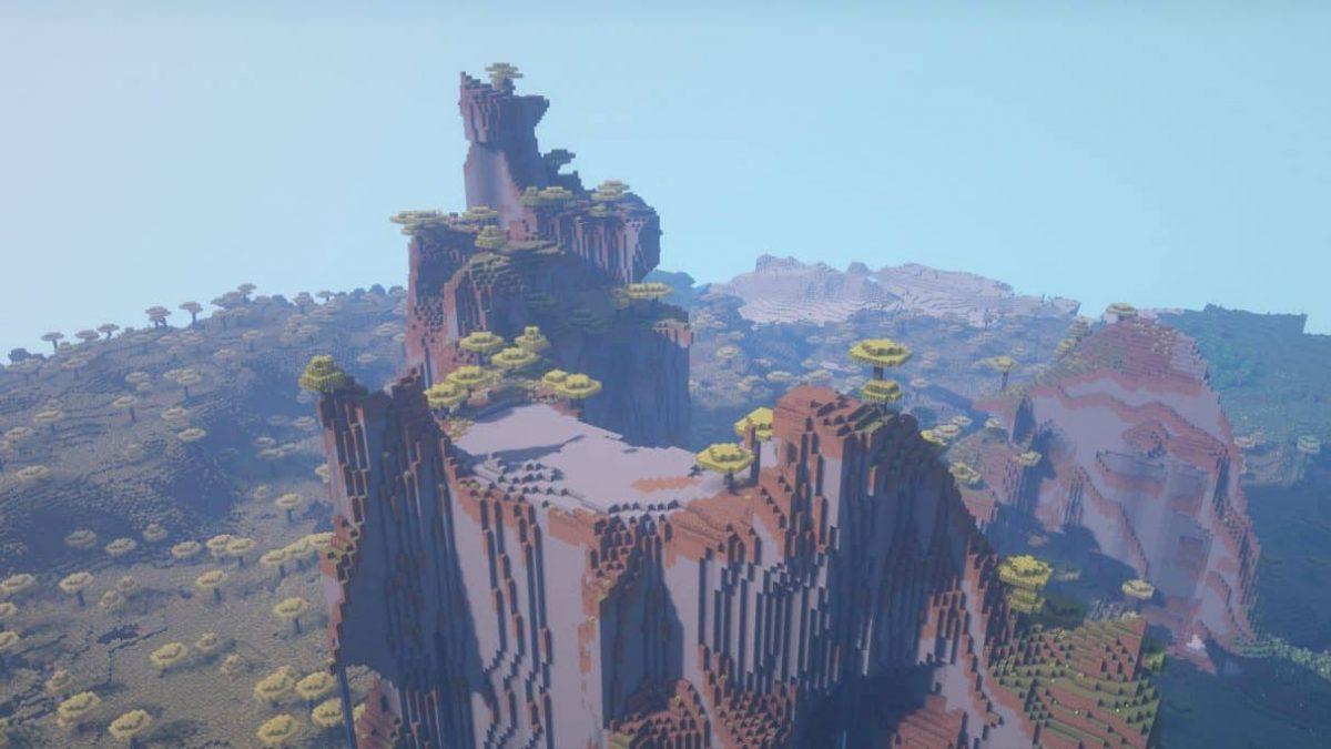 seed minecraft 1.16 collines extrèmes