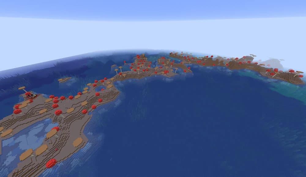seed minecraft 1.16 ile champignon