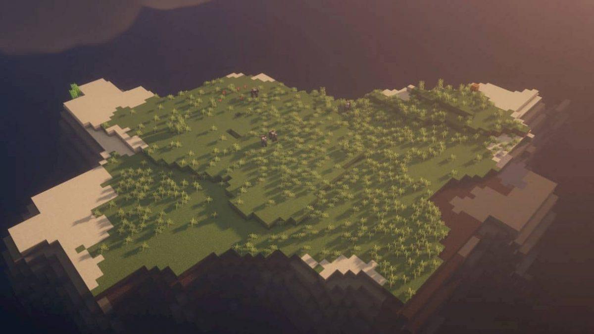 seed minecraft 1.16 ile sans arbres