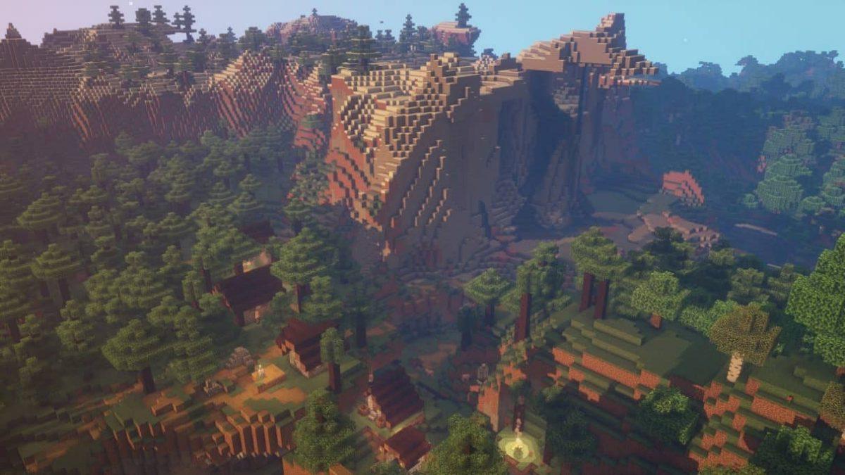 seed minecraft 1.16 village perdu foret