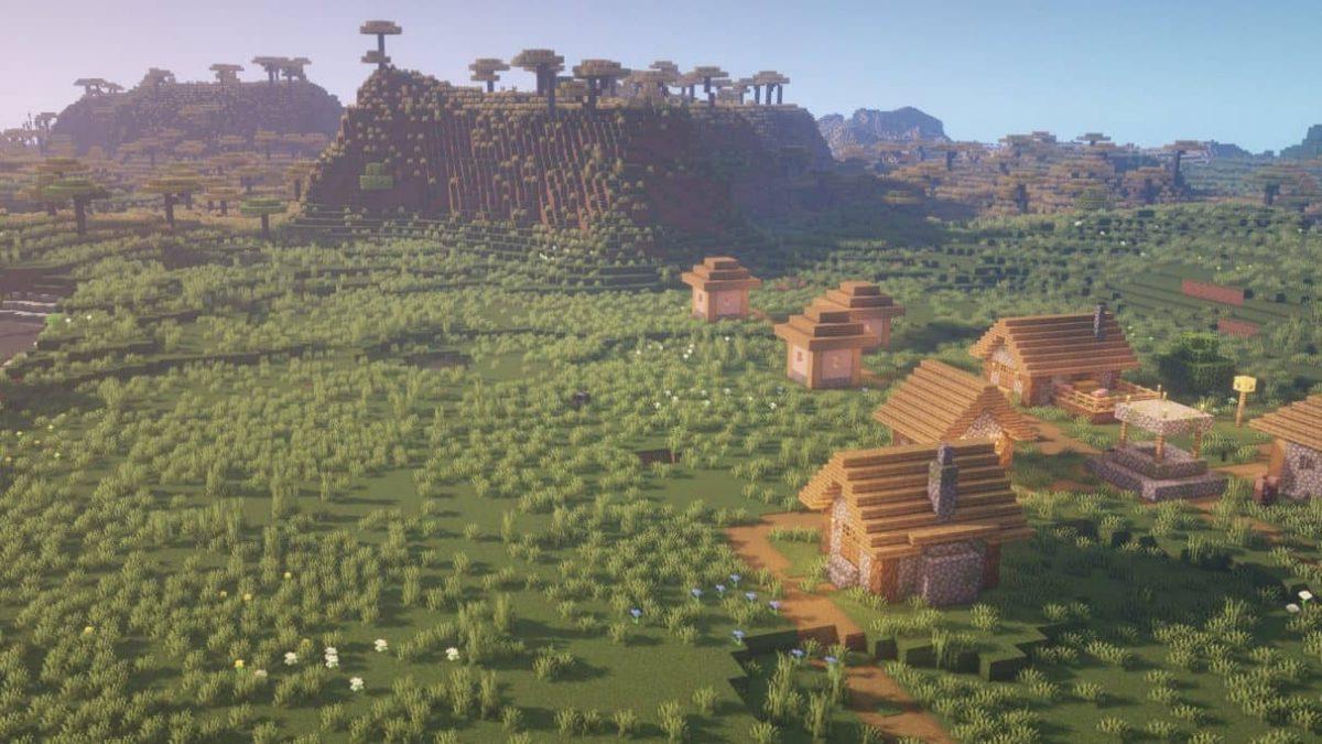 seed minecraft 1.16 village savane
