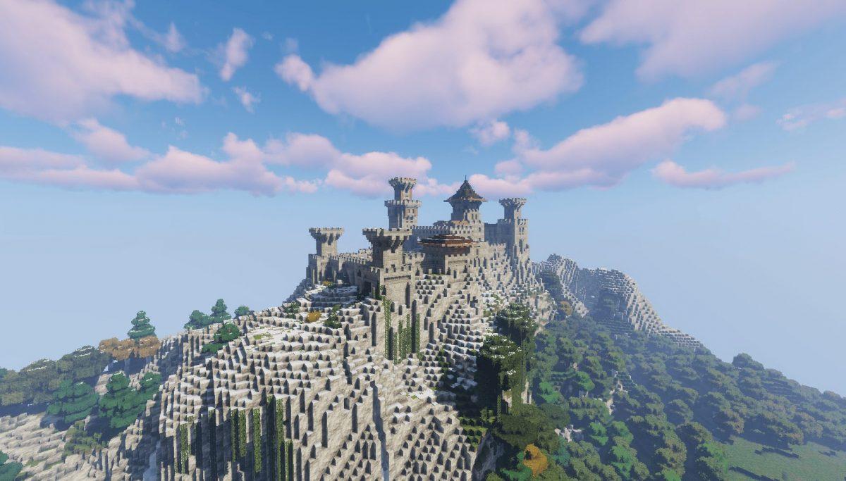 Pack de Texture Winthor Medieval : Une colline avec un chateau