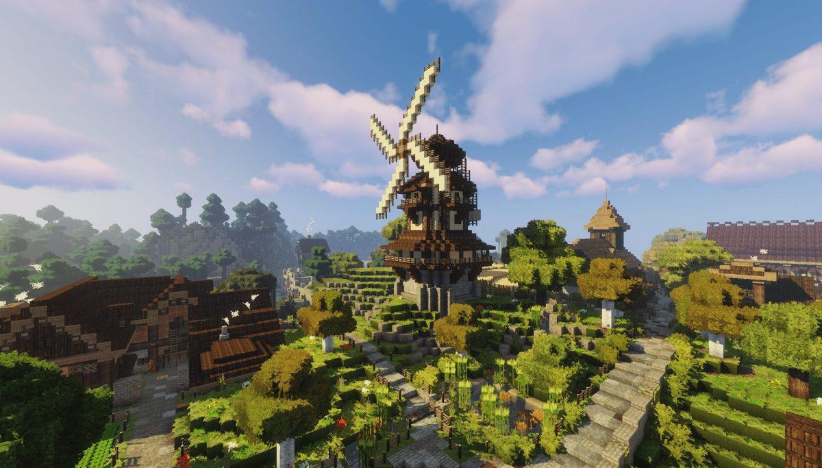 Pack de Texture Winthor Medieval : un grand moulin