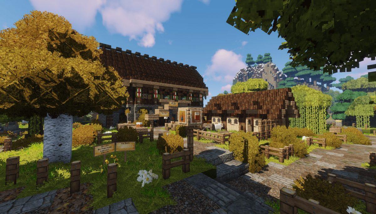 Pack de Texture Winthor Medieval : des maisons dans un village