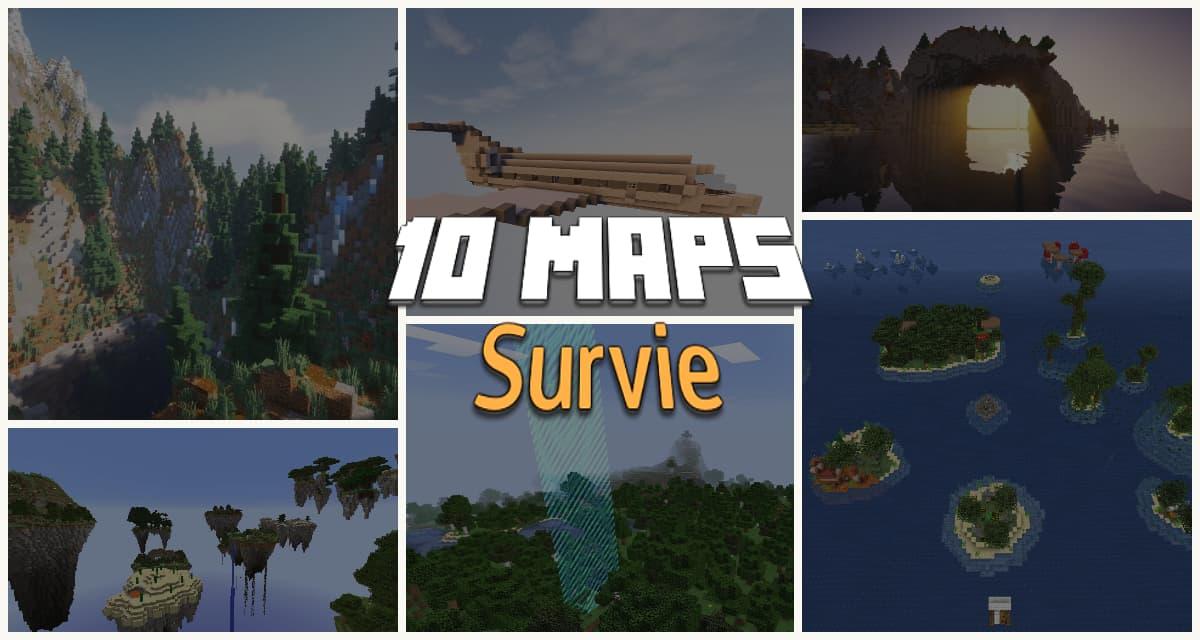 10 Maps Survie pour Minecraft à essayer !