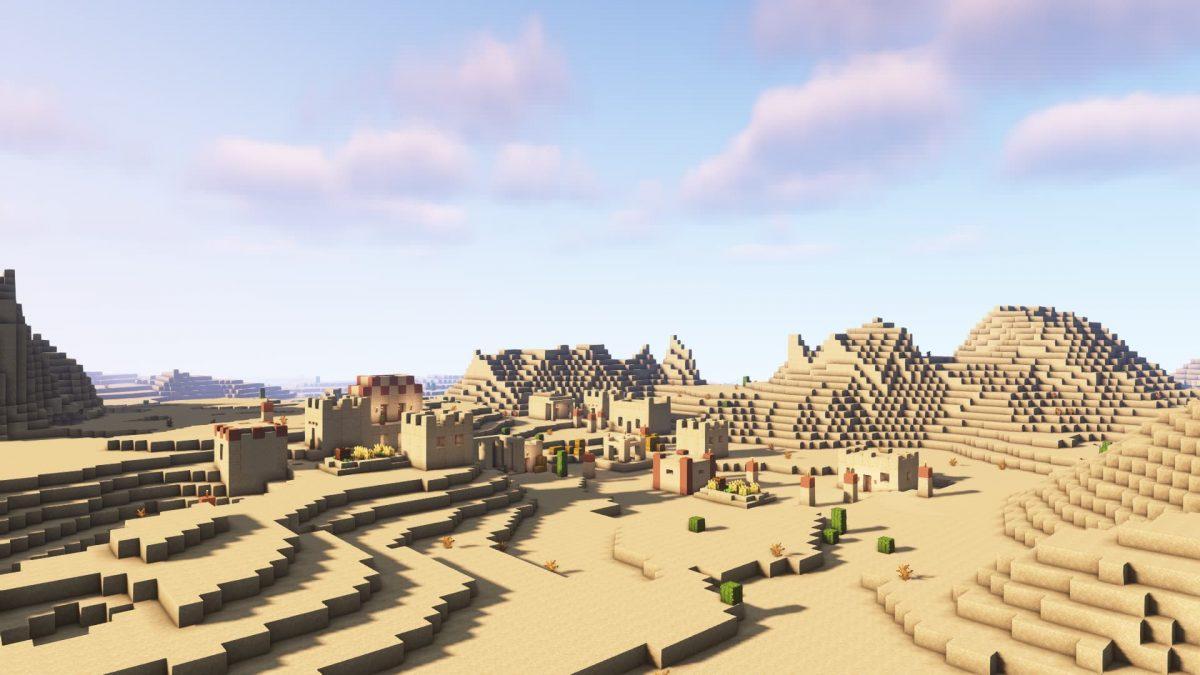 Une village dans le desert