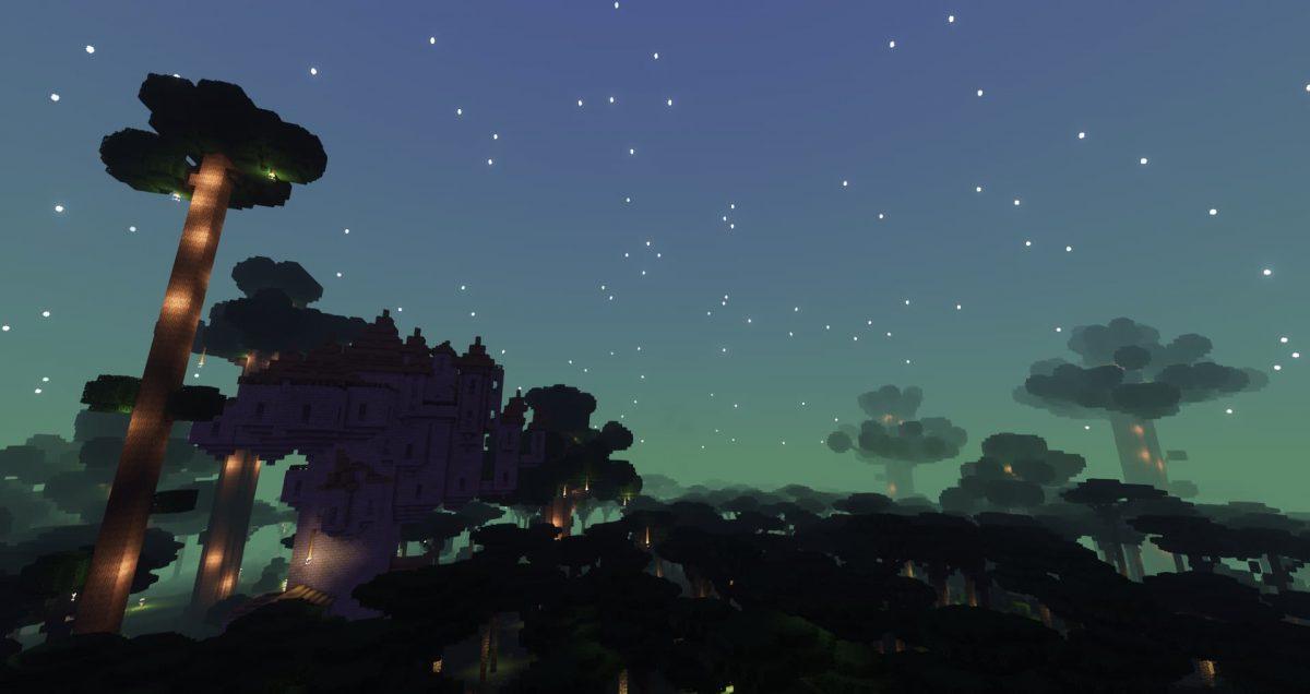 La dimension du mod Twilight Forest avec le Complementary Shaders