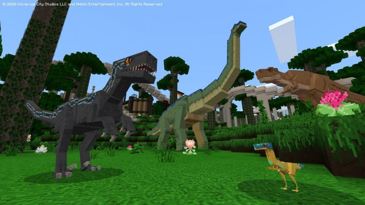 DLC Minecraft Jurassic World : plus de 60 dinosaures et hybrides à découvrir.