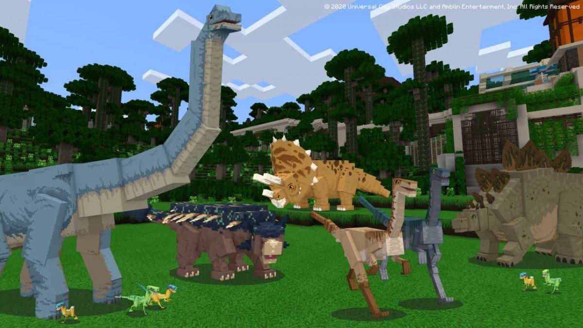 DLC Minecraft Jurassic World : vous reconnaissez certains dinos ?