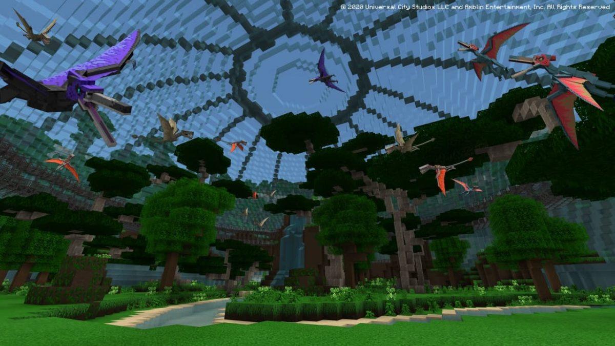 DLC Minecraft Jurassic World : le célèbre dôme est là.