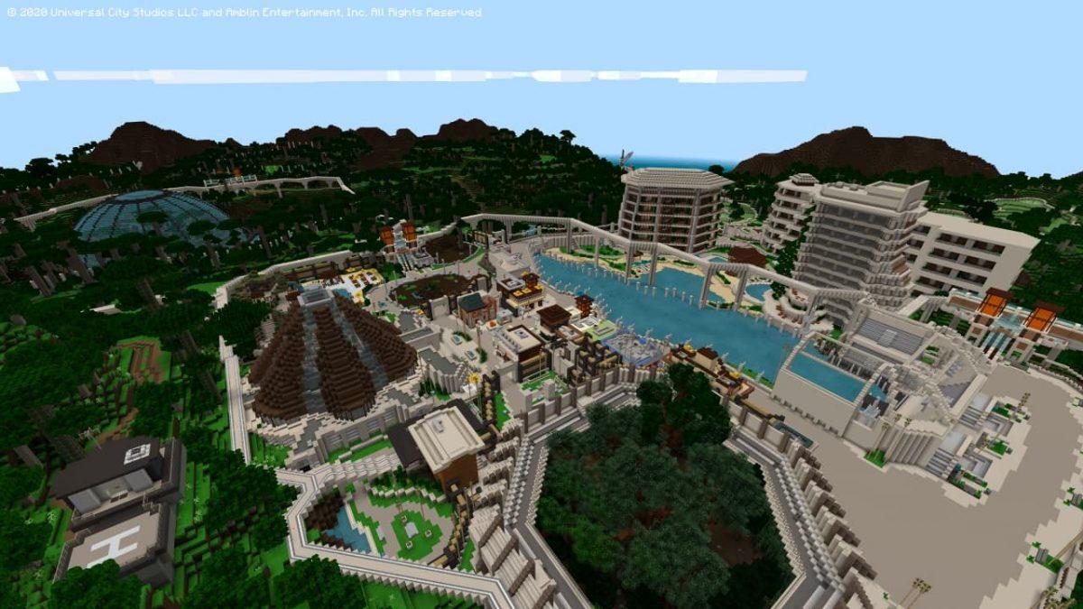 DLC Minecraft Jurassic World : vous devrez faire prospérer le parc.