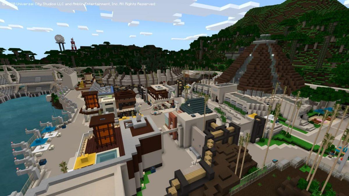 DLC Minecraft Jurassic World : le parc est reconstitué.