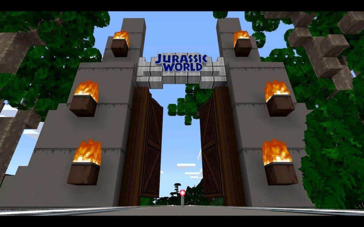 DLC Minecraft Jurassic World : vous reconnaissez ces fameuses portes qui s'ouvrent enfin dans Minecraft ?