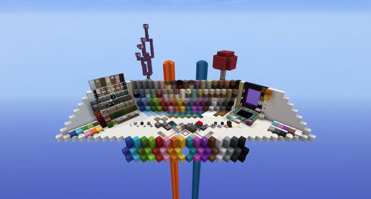 Tous les blocs du pack de texture pour Minecraft UNITY.