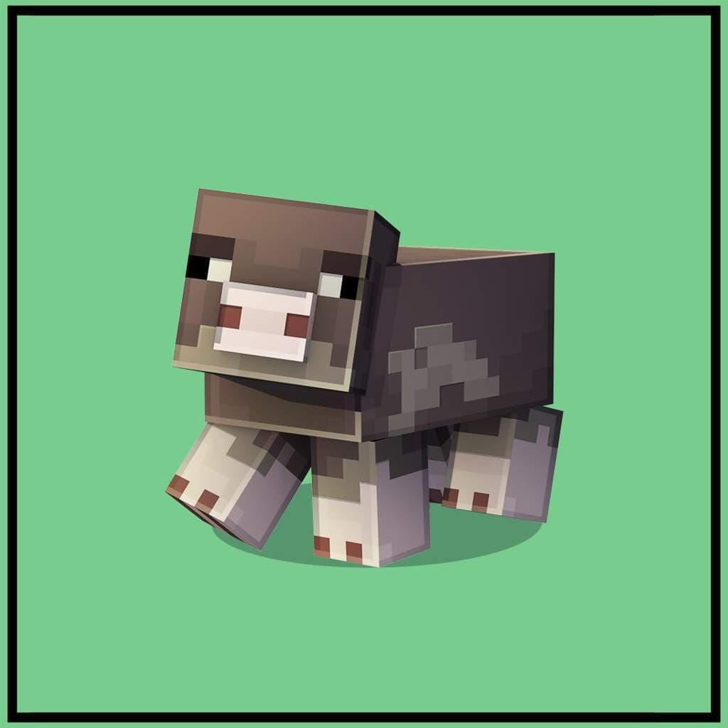 Cochon à pied rose dans Minecraft Earth