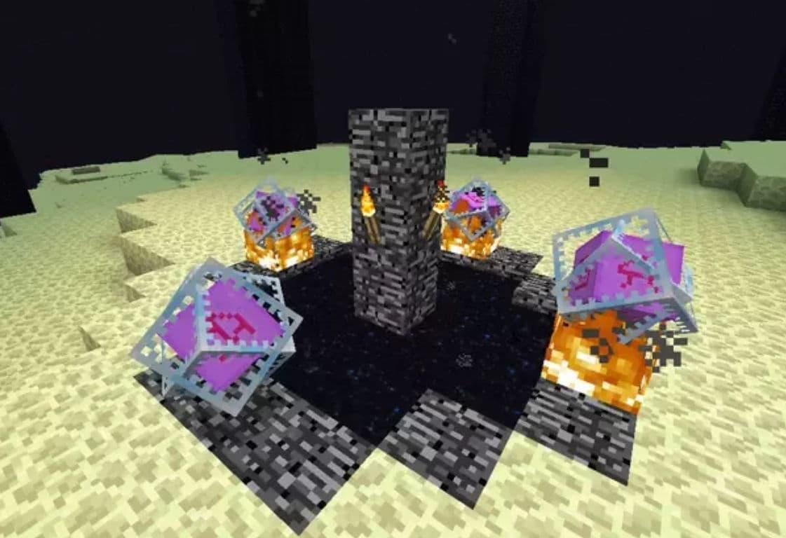 positionnement pour faire apparaitre dragon de l'end Minecraft