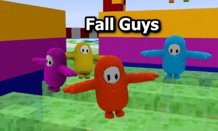 Fall Guys reproduit dans Minecraft à l'aide de blocs de commandes