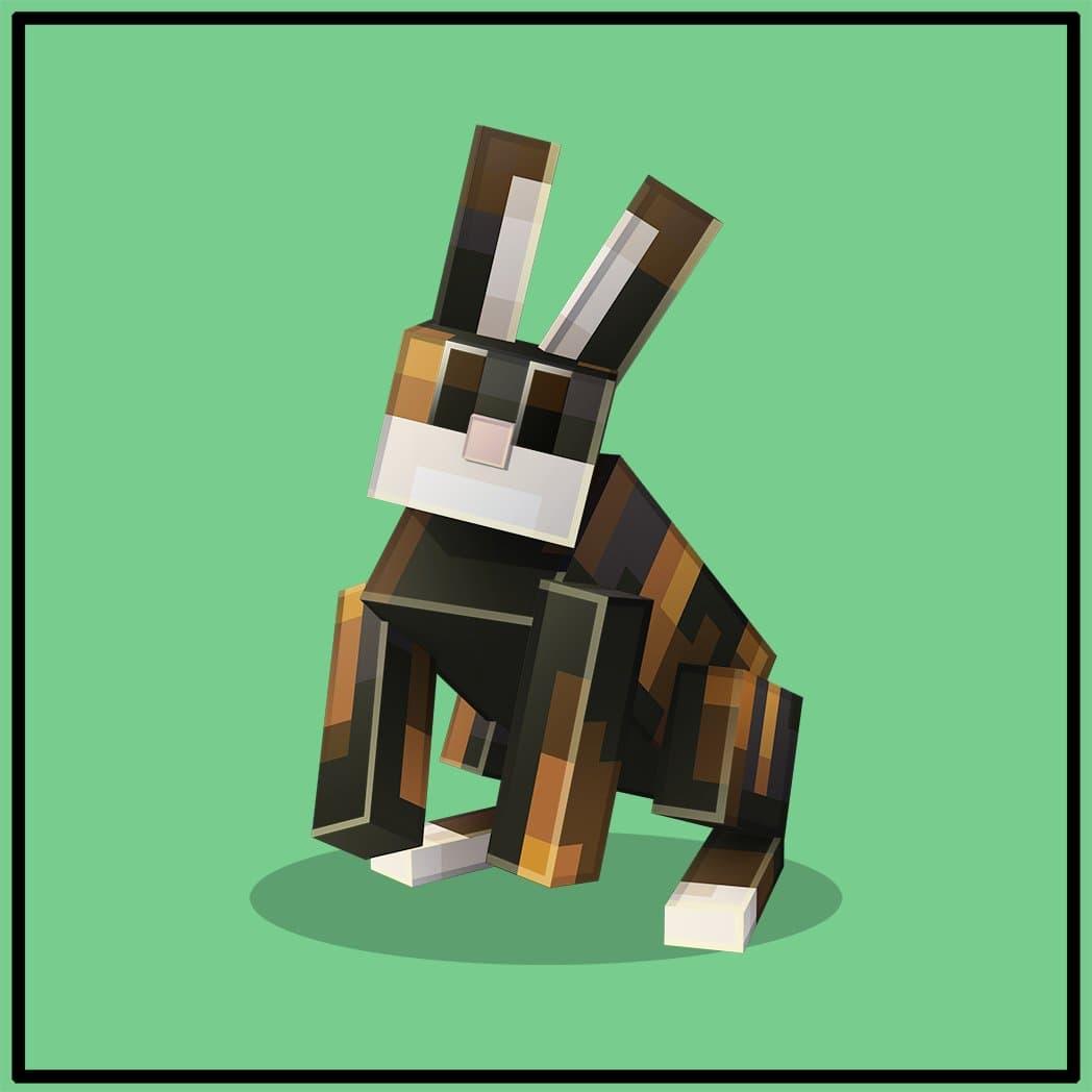 Lapin rayé audacieux dans Minecraft Earth