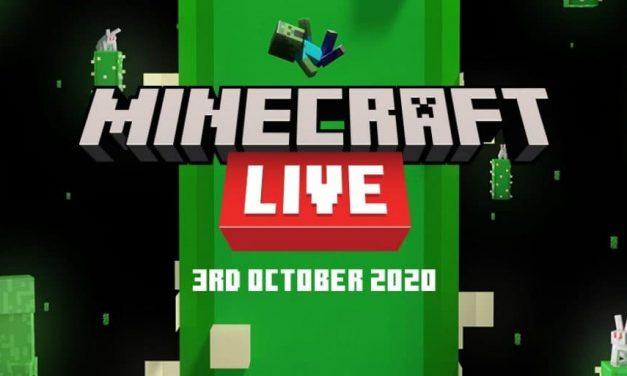 Le Minecraft Live annoncé pour le 3 octobre 2020