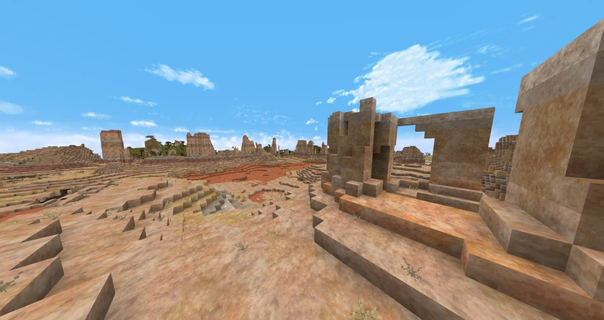 Thine Explorer's Pack Revival – Pack de Textures : biome badlands